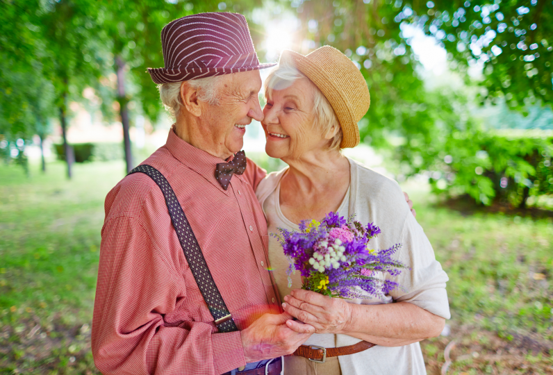 Elderly couple enjoying date night in Ventura County