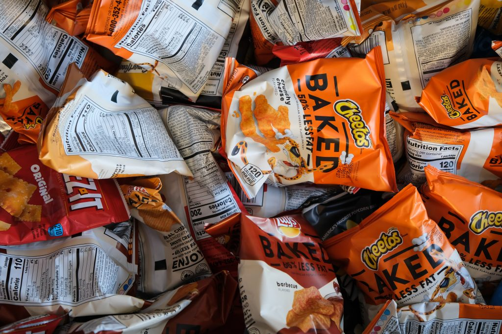 Bags of chips for stress eating pre therapy in Simi Valley, Ca